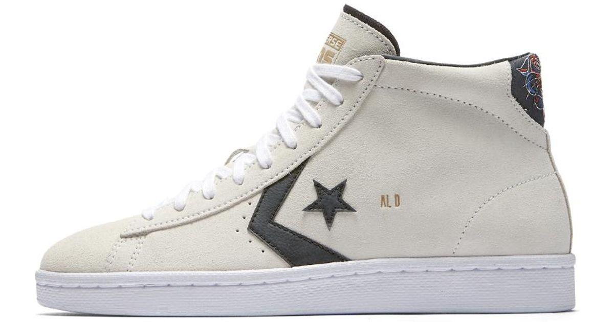 Lyst - Converse Pro Leather Al Davis Suede High Top Men s Skateboarding Shoe  in White for Men 122586c21