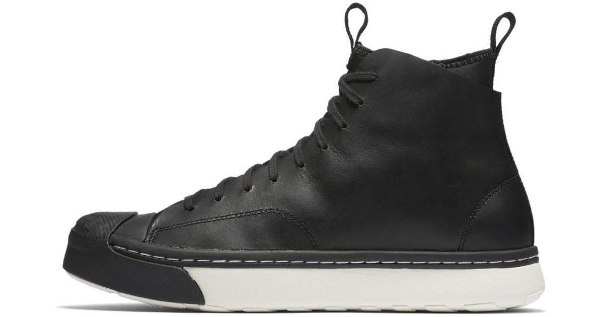 c90c59924219f6 ... lyst converse jack purcell s series mens boot in black for men 9acea  3bb98 spain converse jack purcell s series sneaker boot hi counter climate  size ...