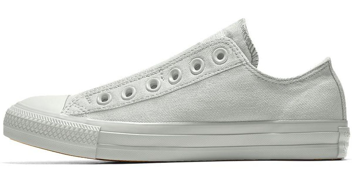 Lyst - Converse Custom Chuck Taylor All Star Slip Low Top Shoe in White for  Men cc49f012d