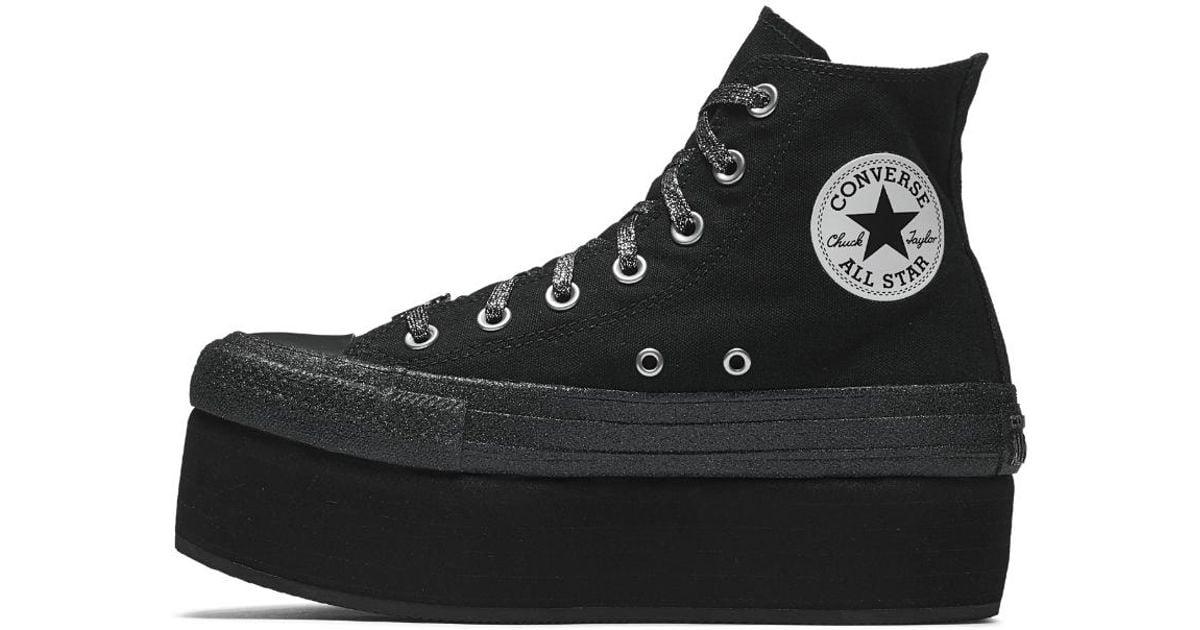 converse platform black and white