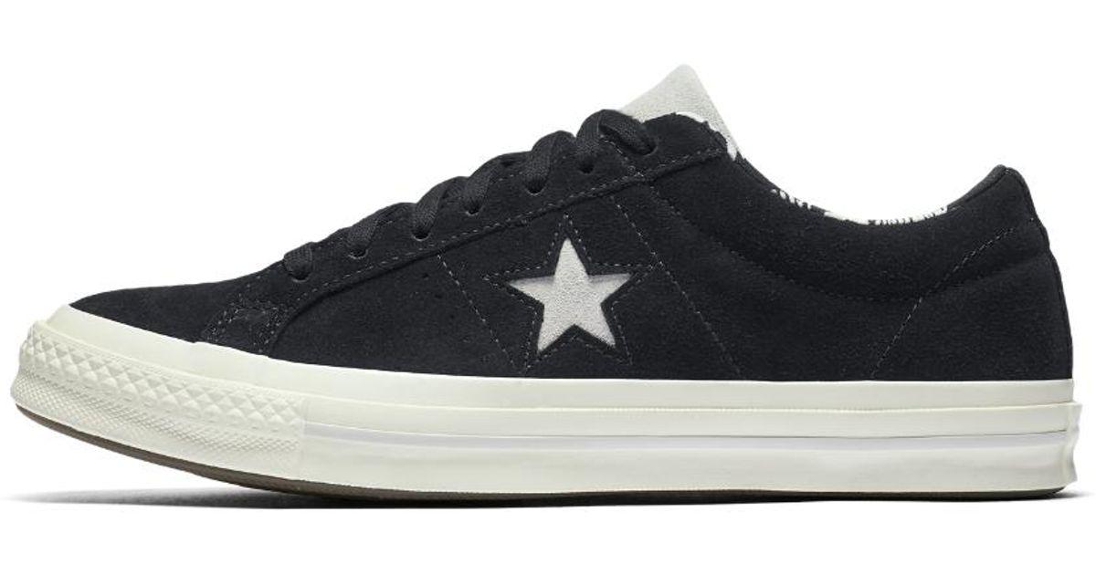 d1b76dc6bd5f Lyst - Converse One Star Tropical Feet Low Top Shoe in Black
