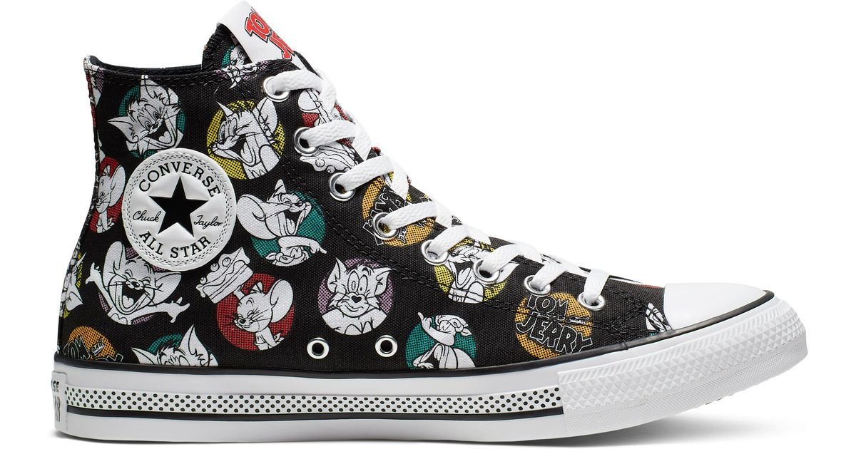 Converse Black Tom And Jerry Chuck Taylor All Star High Top for men