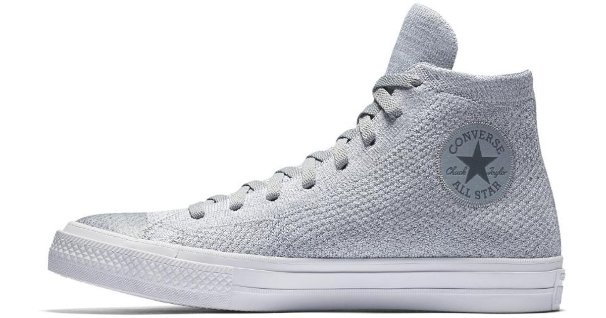 Lyst - Converse Chuck Taylor All Star X Nike Flyknit High Top Shoe in Gray  for Men 6b206d8a6460