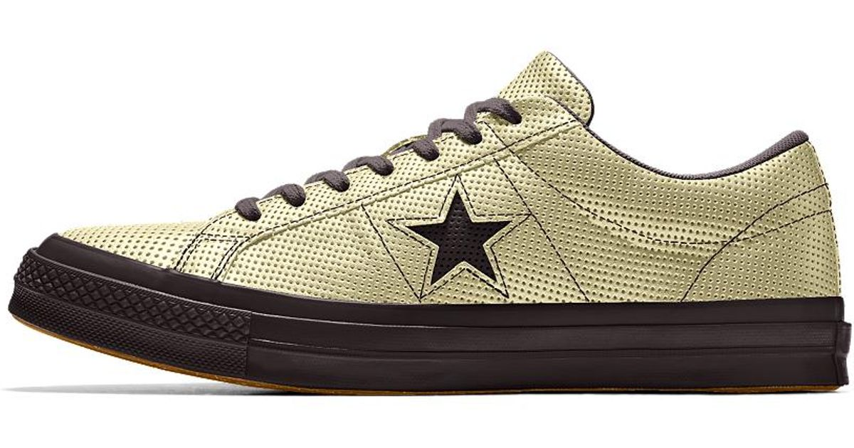 Converse White Custom One Star Suede Shoe for men