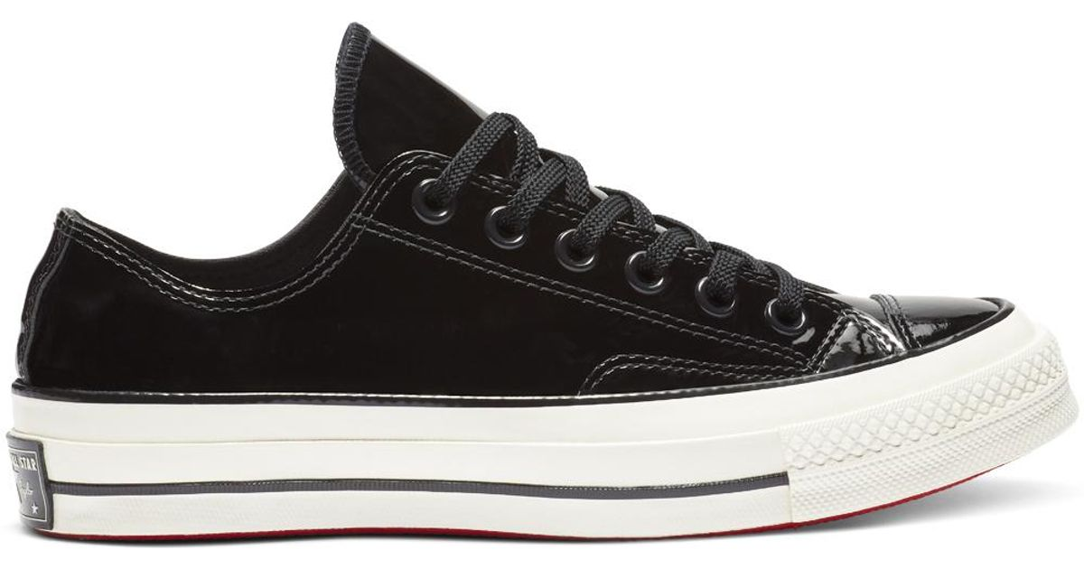 Converse Black Chuck 70 Patent Leather Low Top for men