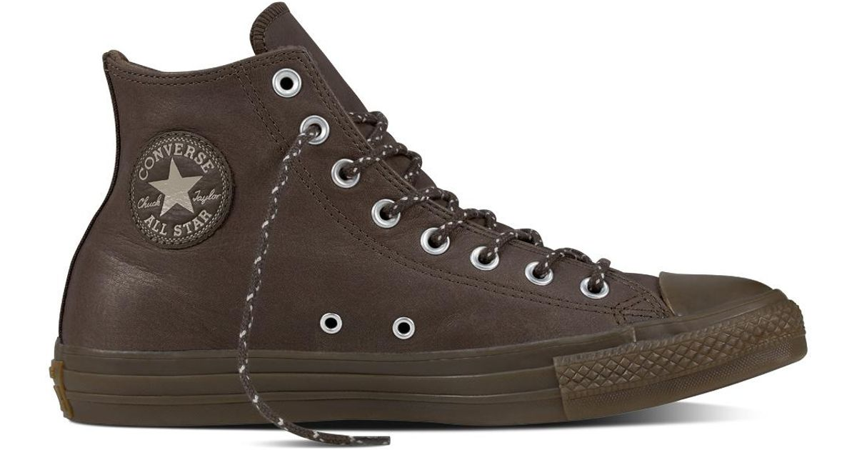 217c6b0d7d68c2 Converse Chuck Taylor All Star Leather + Thermal in Brown for Men - Lyst
