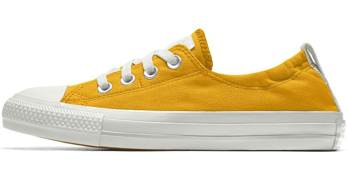 b9e005d4b106 Lyst - Converse Custom Chuck Taylor All Star Shoreline Women s Slip-on Shoe  in Yellow