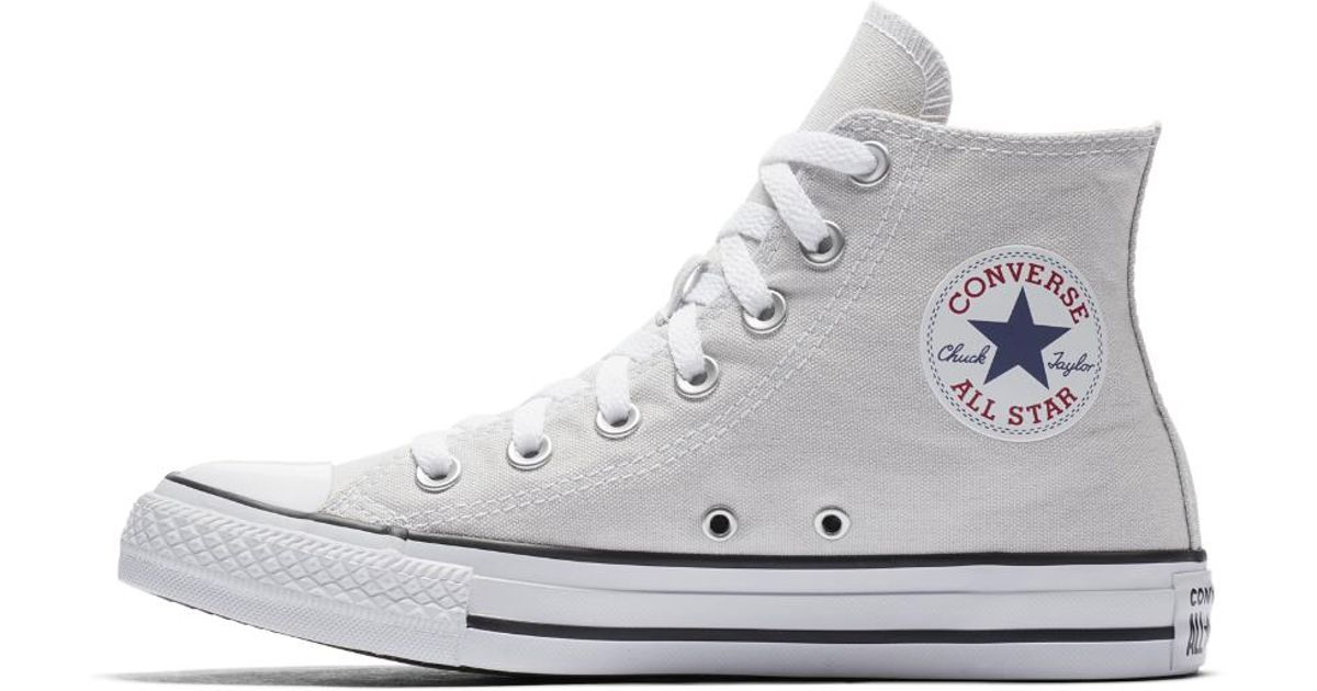 2bd8af4833a0bc Lyst - Converse Chuck Taylor All Star Seasonal Colors High Top Women s Shoe  in Gray