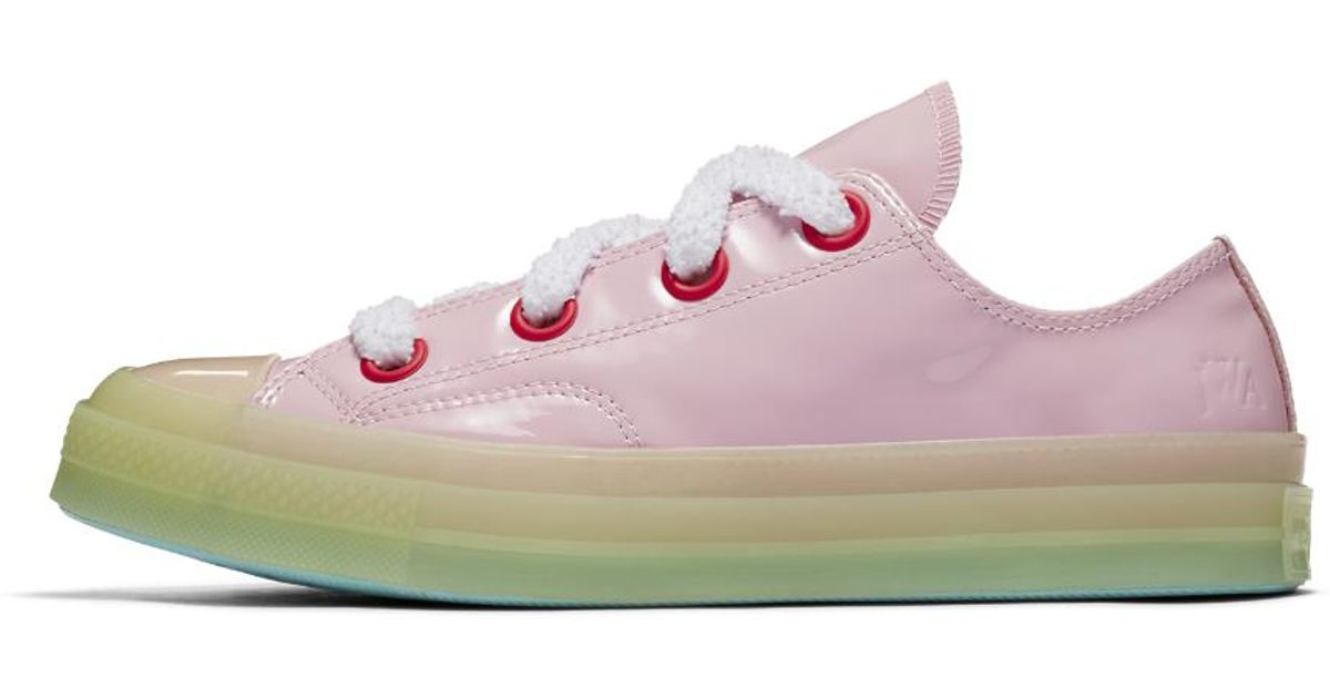detailed look 6d3a3 031e4 converse-Pink-MistBarely-Volt-X-Jw-Anderson-Patent-Leather-Chuck-70-Toy-Low -Top-Top.jpeg