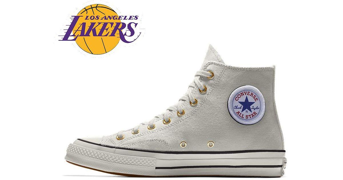 ad123a9a295 Lyst - Converse Custom Chuck 70 Nba High Top Shoe in White for Men