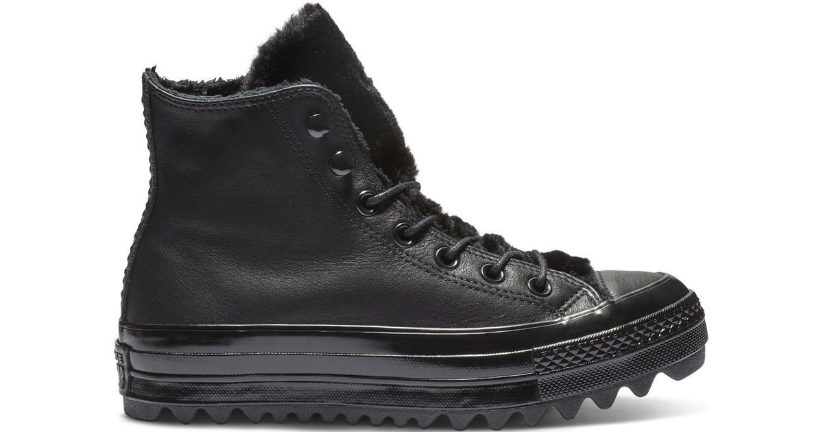 a91a79dd8ee Converse Chuck Taylor All Star Street Warmer Ripple High Top in Black for  Men - Lyst
