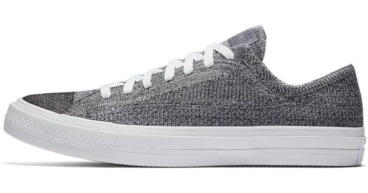 c30b4686bcacf4 Lyst - Converse Chuck Taylor All Star X Nike Flyknit Low Top Shoe in White
