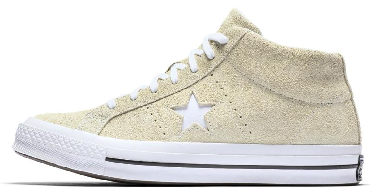 Converse One Star Premium Suede Mid Men's Shoe in Lemon (Yellow ...