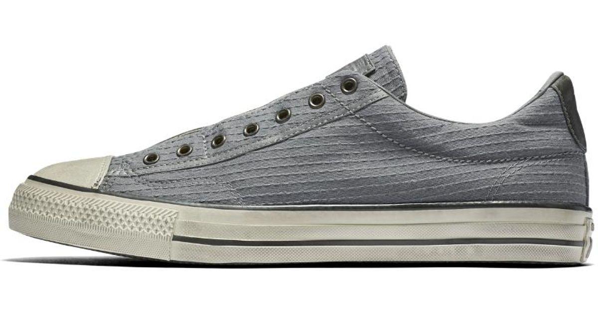 f71193ca8a109c Lyst - Converse X John Varvatos Chuck Taylor All Star Vintage Seersucker Low  Top Men s Slip-on Shoe in Gray for Men