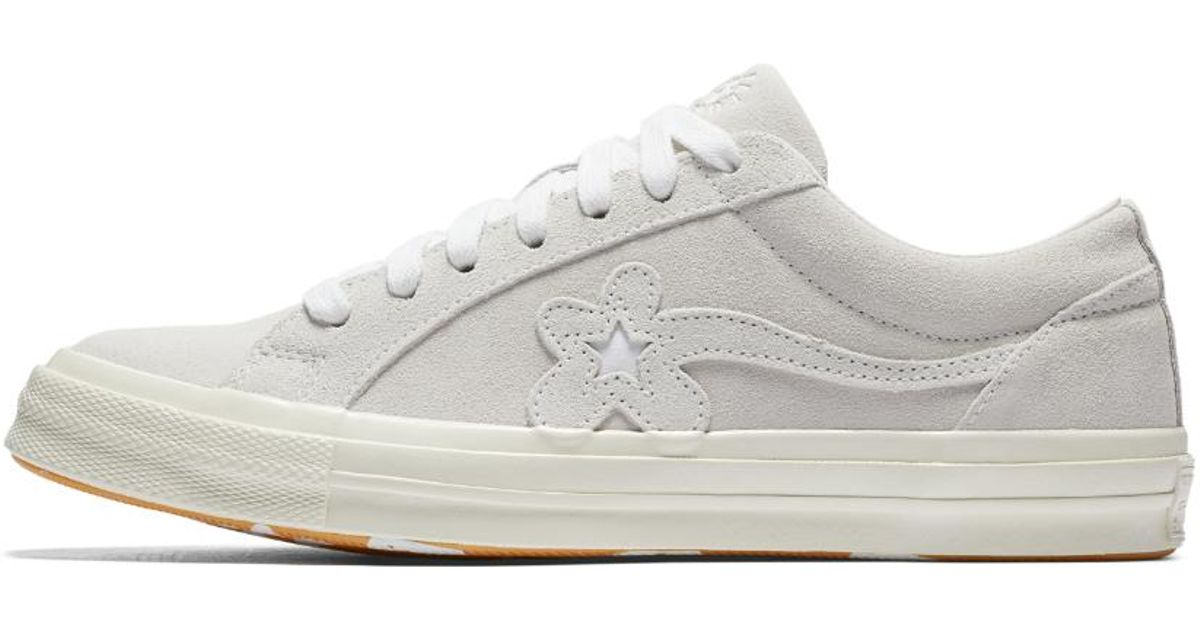 Lyst Converse Golf Le Fleur One Star Suede Low Top In White
