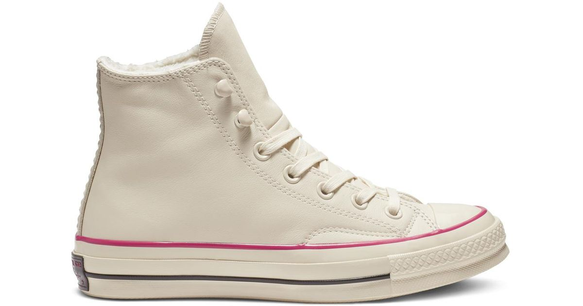 a93faa97e8cda6 Converse Chuck 70 Street Warmer Leather High Top in White - Lyst