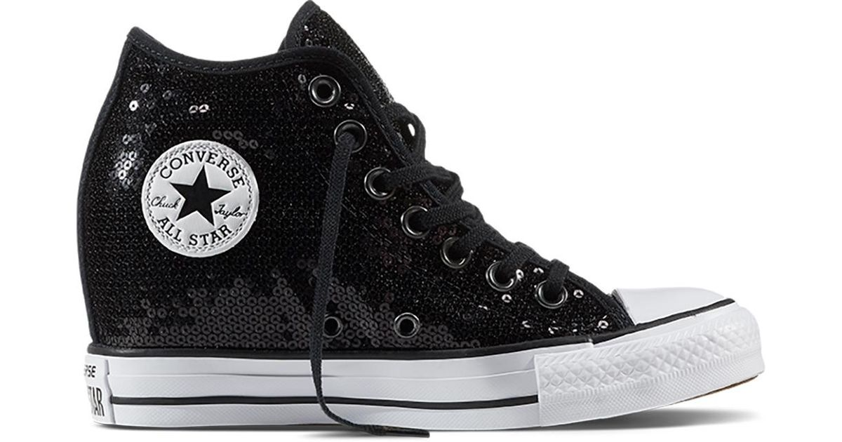 a728d83b9e53 Converse Chuck Taylor All Star Lux Sequin in Black - Lyst