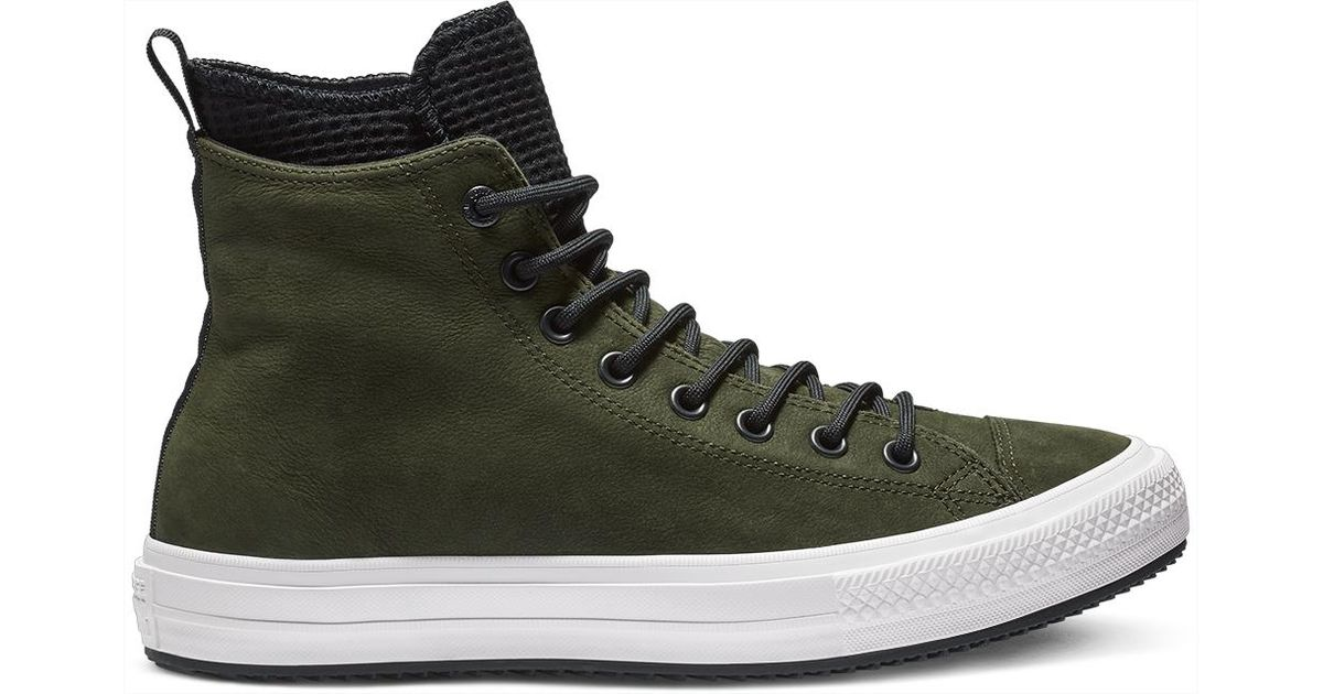 e20e913cb9a6 Converse Chuck Taylor All Star Waterproof Leather High Top in Black for Men  - Lyst