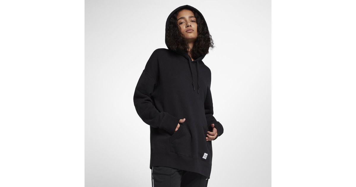 25460292297d Lyst - Converse Essentials Oversized Pullover Women s Hoodie in Black
