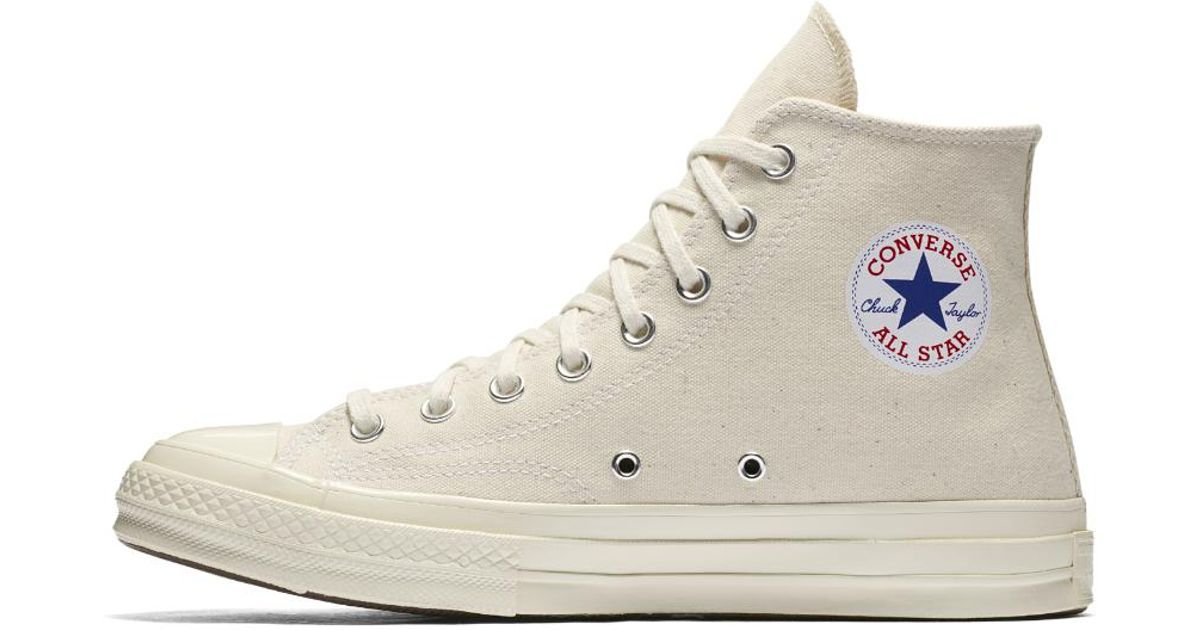 5f33654f1a3e Lyst - Converse Chuck 70 High Top Shoe in Natural
