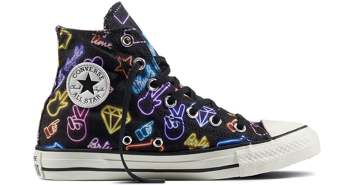 Converse Black Chuck Taylor All Star Neon Lights Lyst