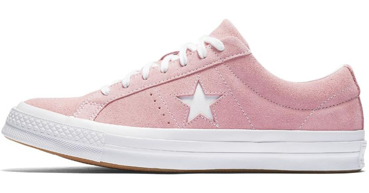b7b0606c8356ac Lyst - Converse One Star Classic Suede Low Top Shoe in Pink