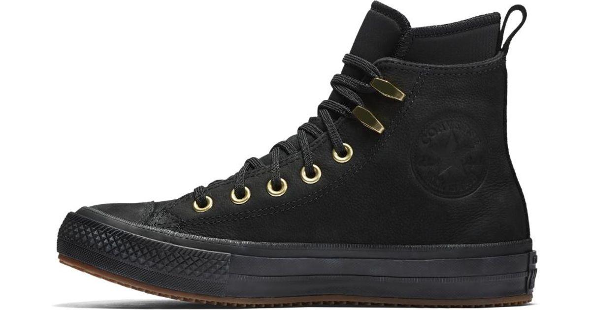 214699c4bbc3f0 Lyst - Converse Chuck Taylor All Star Waterproof Nubuck High Top Women s  Boot in Black