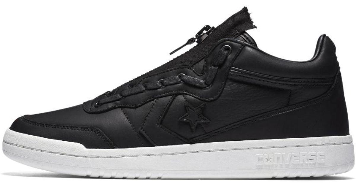 Converse - Black Fastbreak Leather Mid Zip Men s Shoe for Men - Lyst 4720eec49