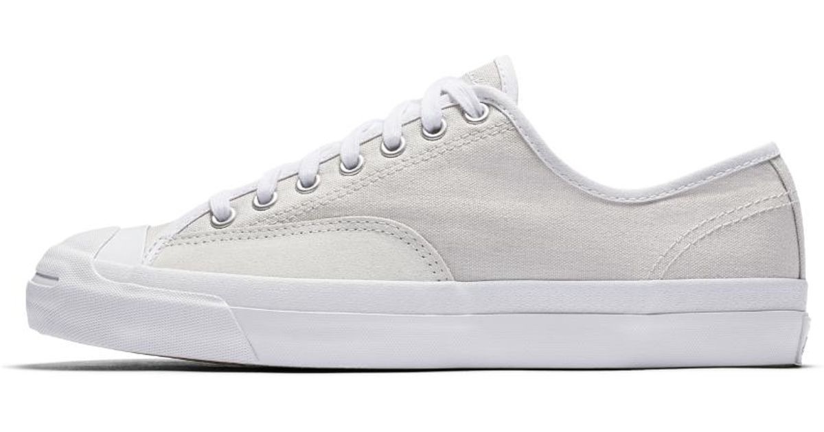 5da4ac424ae0 Lyst - Converse Jack Purcell Pro Canvas Low Top Men s Skateboarding Shoe in  Gray for Men