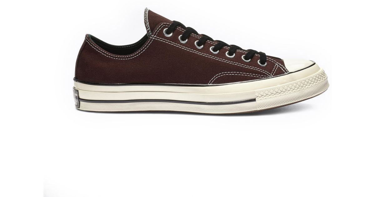 Converse Chuck 70 Vintage Canvas Low Top in Brown - Lyst