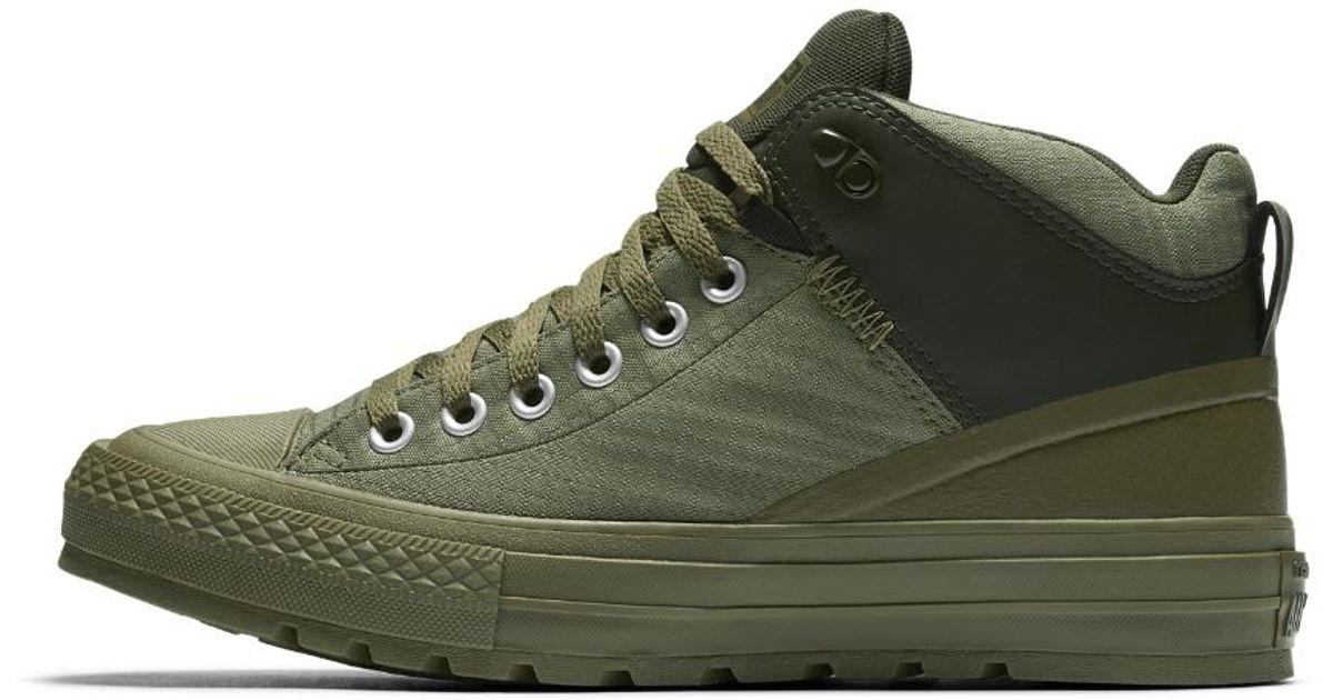 207f98f80071 Lyst - Converse Chuck Taylor All Star Street Boot Nylon Men s Boot in Green  for Men