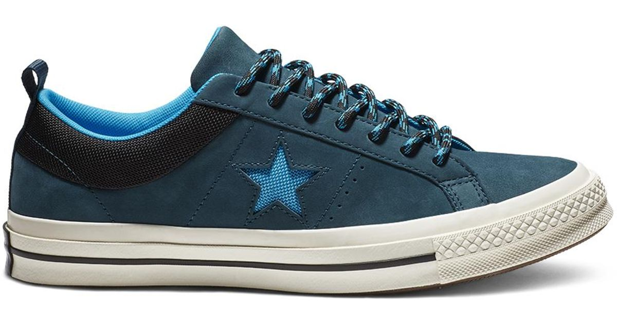 72ca88343ff Converse One Star Sierra Leather Low Top in Blue for Men - Lyst
