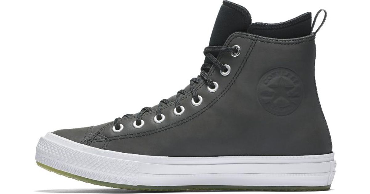 fb1e5d31fe24 Lyst - Converse Chuck Taylor All Star White Ice High Top Men s Boot in  Black for Men