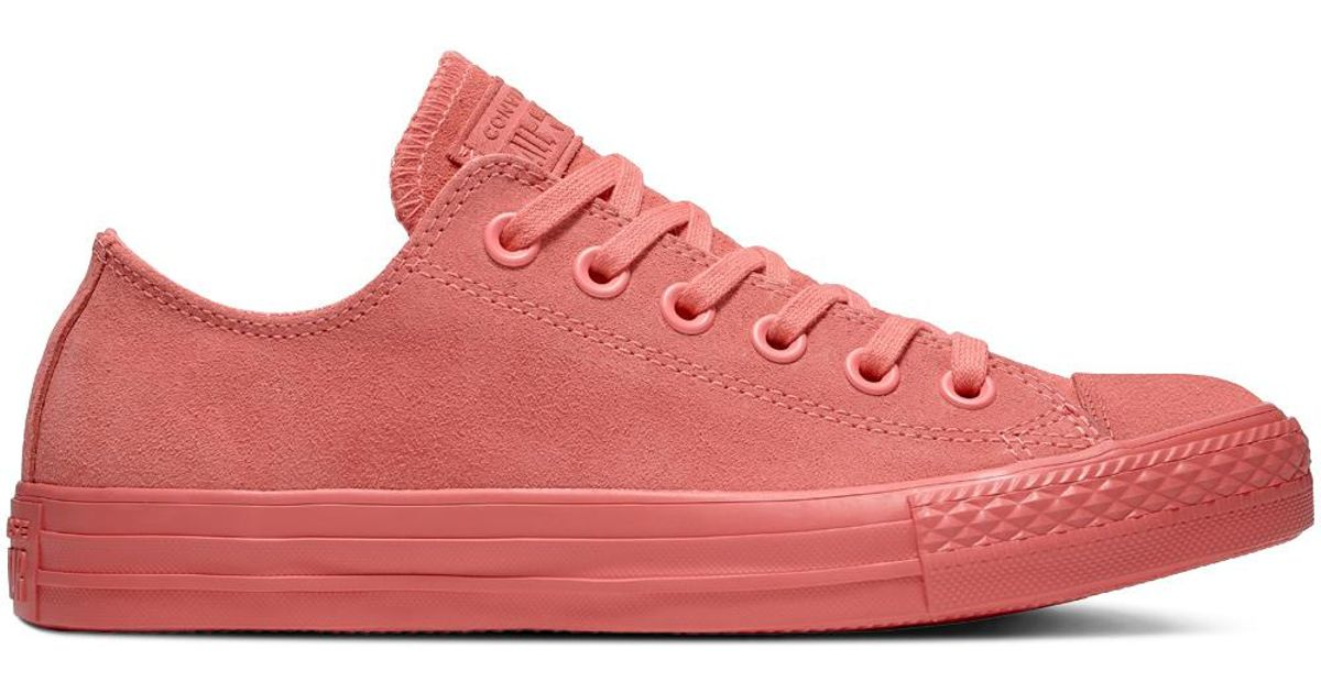 f73384f3a2ec Converse Chuck Taylor All Star Mono Suede Low Top in Pink for Men - Lyst