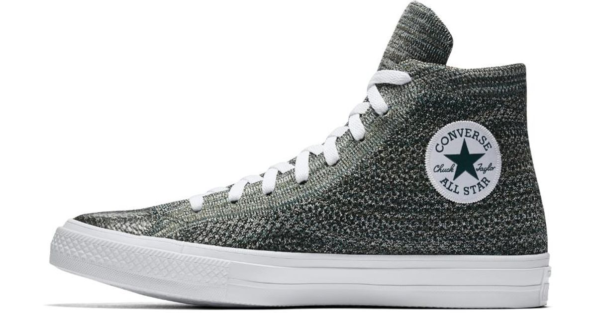 12ebfe187006 Lyst - Converse Chuck Taylor All Star X Nike Flyknit High Top Shoe in Green  for Men