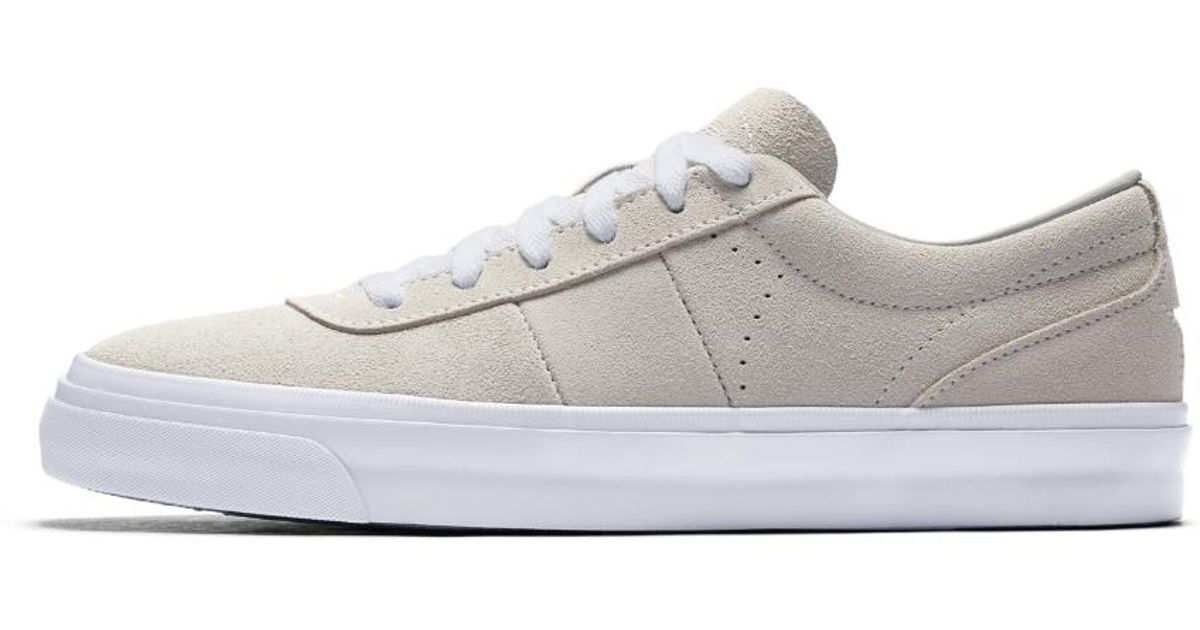 fb3d82797083 Lyst - Converse One Star Cc Pro Platinum Suede Low Top Men s Skateboarding  Shoe in White