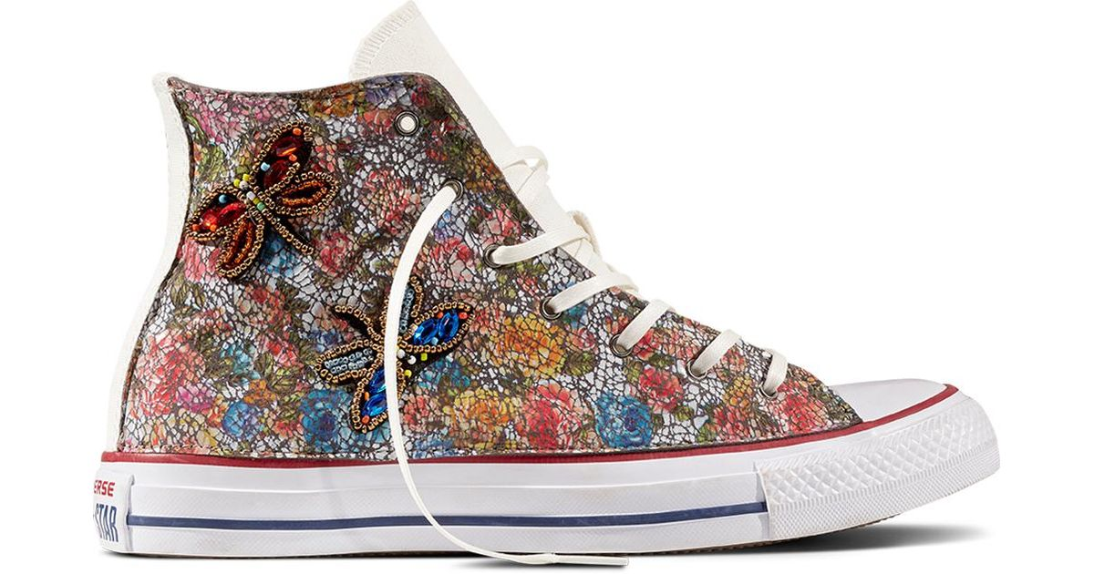14efa3e4e9d7 Converse Chuck Taylor All Star Jeweled Butterfly in White - Lyst