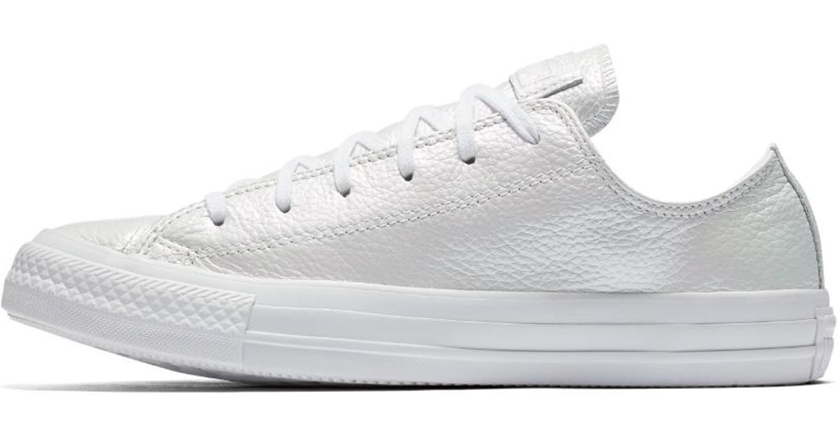 latest discount arriving search for clearance Converse White Chuck Taylor All Star Iridescent Leather Low Top Women's Shoe