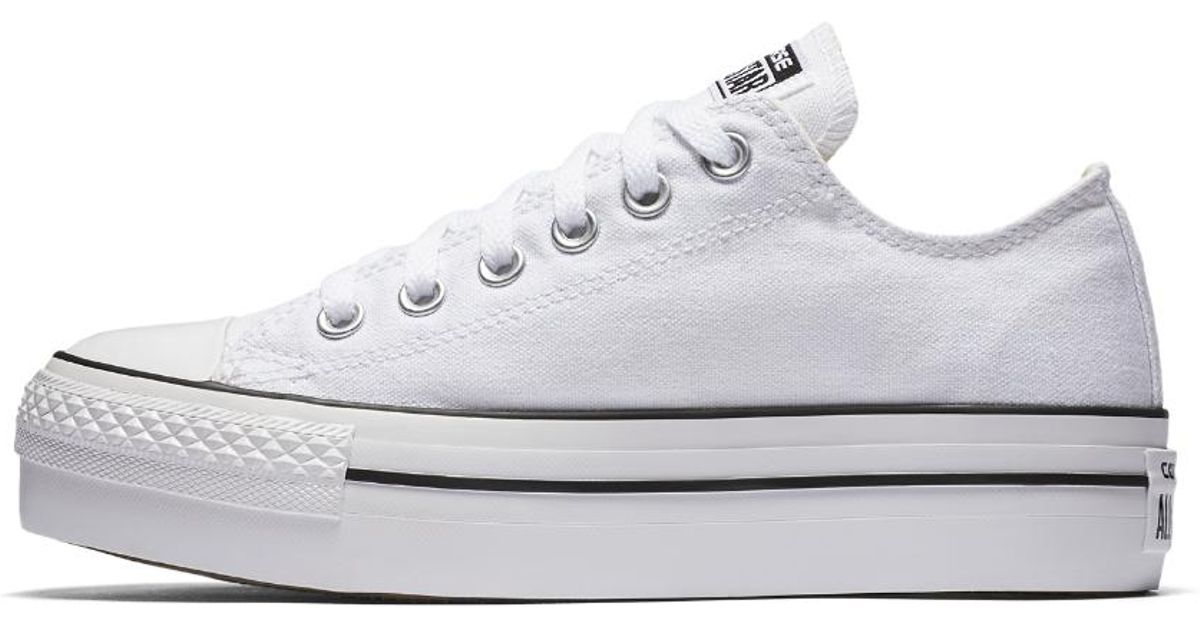0c979d6aac4 Lyst - Converse Chuck Taylor All Star Platform Low Top Women s Shoe in White
