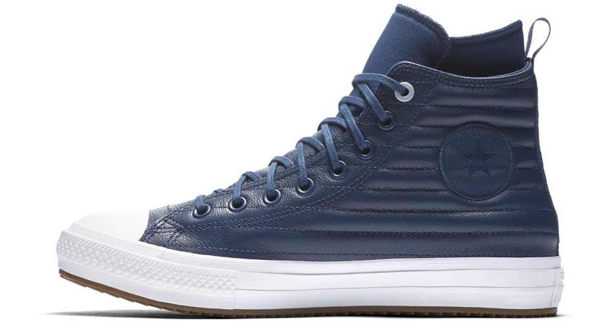 d28ecc58225f Lyst - Converse Chuck Taylor All Star Waterproof Boot Quilted Leather Men s  Boot in Blue for Men