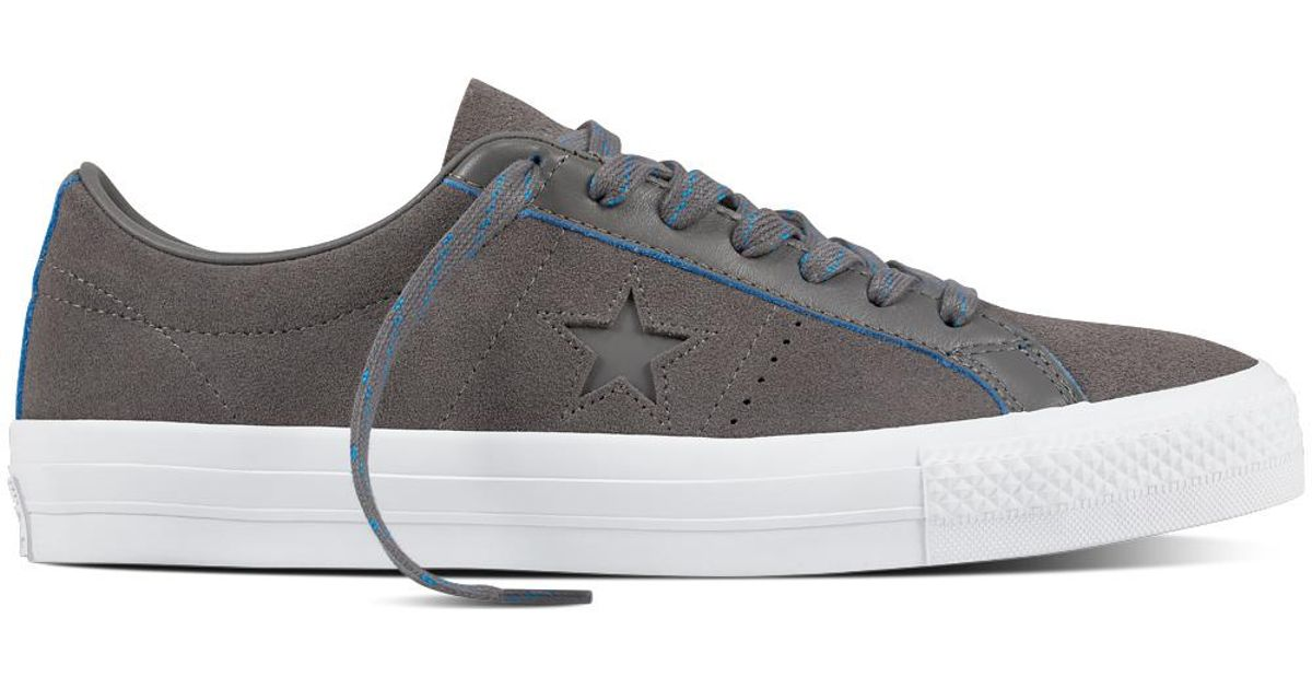 88dfece9ce64 Converse Cons One Star Pro Rub-off Leather in Gray - Lyst