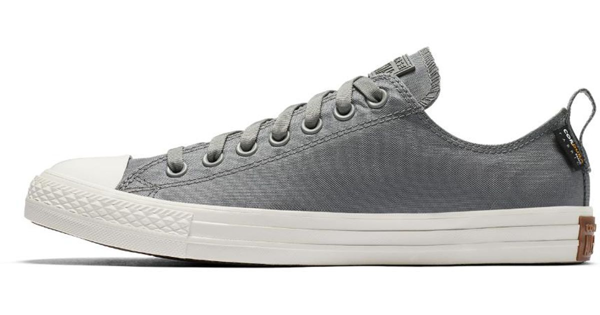 f3a51129a19153 Lyst - Converse Chuck Taylor All Star Cordura Low Top Men s Shoe in Gray  for Men