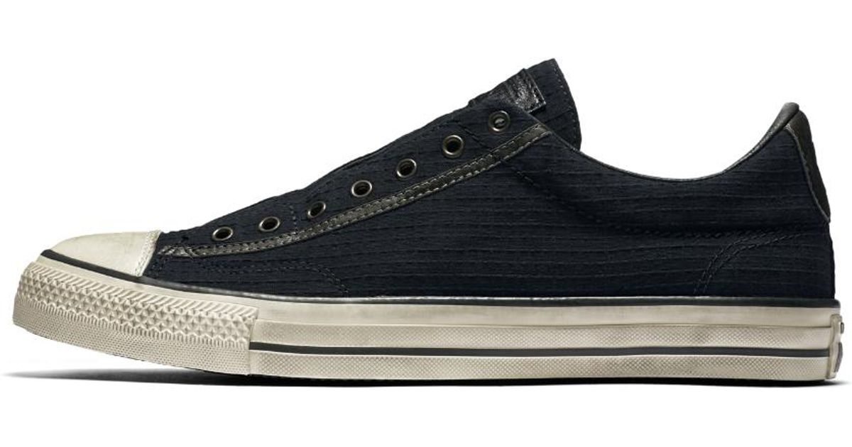 a11f9507452f sale seersucker chuck taylor slip on d3952 a5bf0  coupon for lyst converse  x john varvatos chuck taylor all star vintage seersucker low top mens