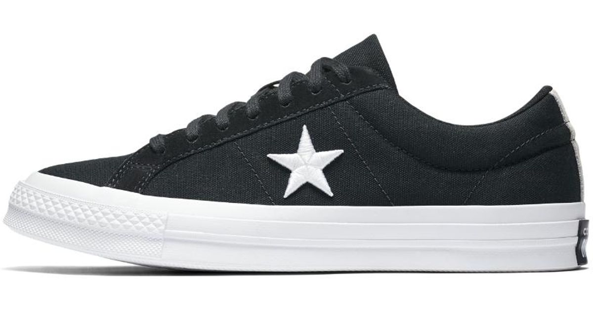 66b466e3bba ... spain lyst converse one star country pride canvas low top shoe in black  for men e7831