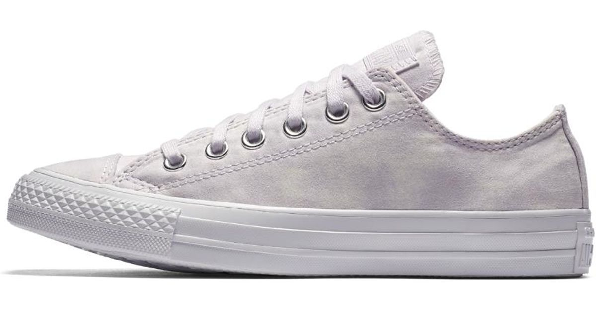 32821876b7cd Lyst - Converse Chuck Taylor All Star Peached Wash Low Top Women s Shoe in  White