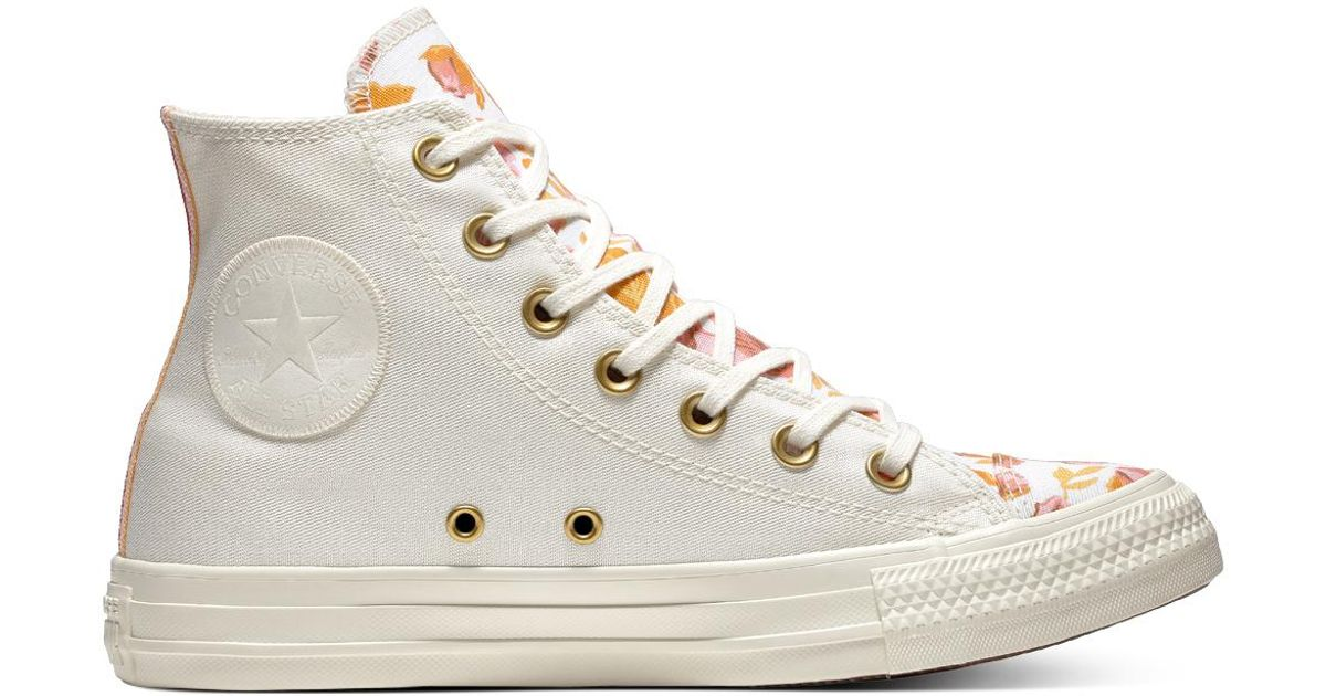 486f517408b2 Converse Chuck Taylor All Star Parkway Floral High Top in White - Lyst