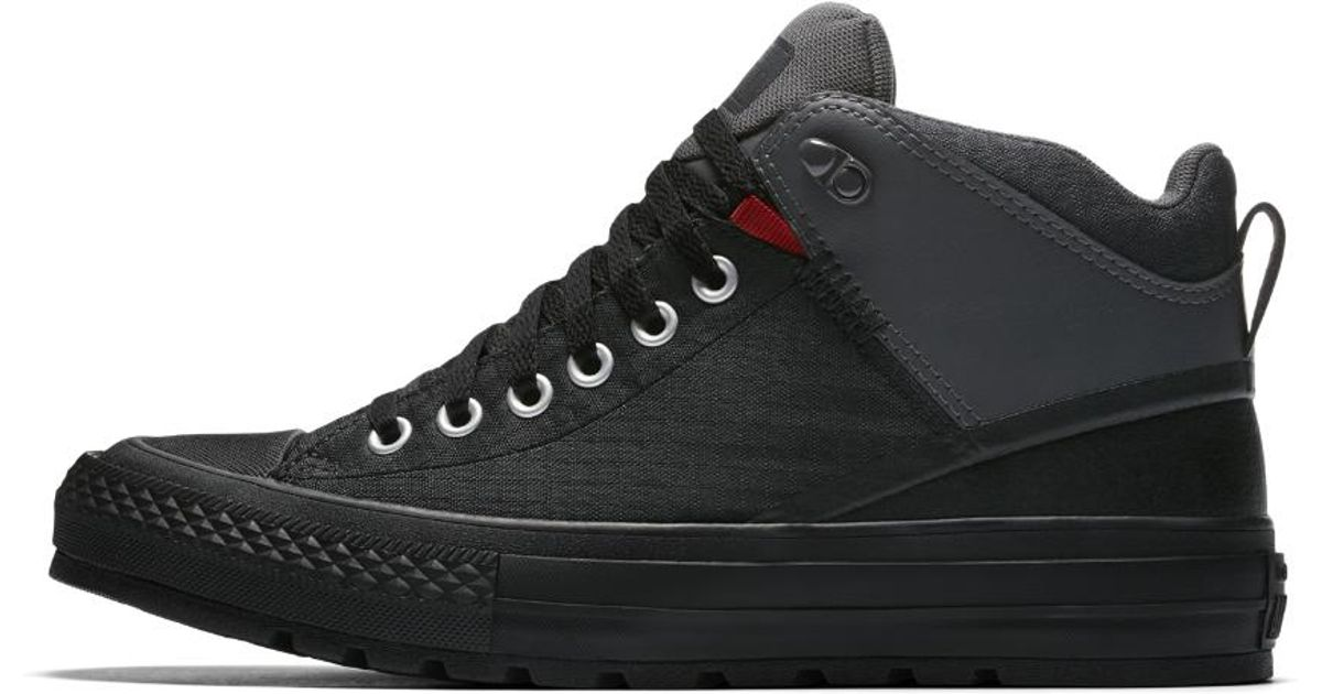 422a8c70d8d3eb Lyst - Converse Chuck Taylor All Star Street Boot Nylon Men s Boot in Black  for Men