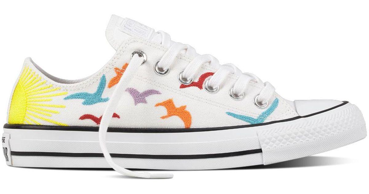daa20be17edf4f Converse Chuck Taylor All Star Mara Hoffman Rainbow Birds in White - Lyst
