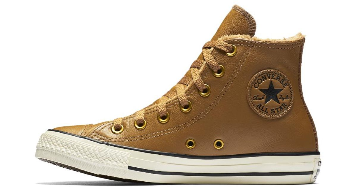 Converse Chuck Taylor All Star Leather And Faux Fur High Top ...