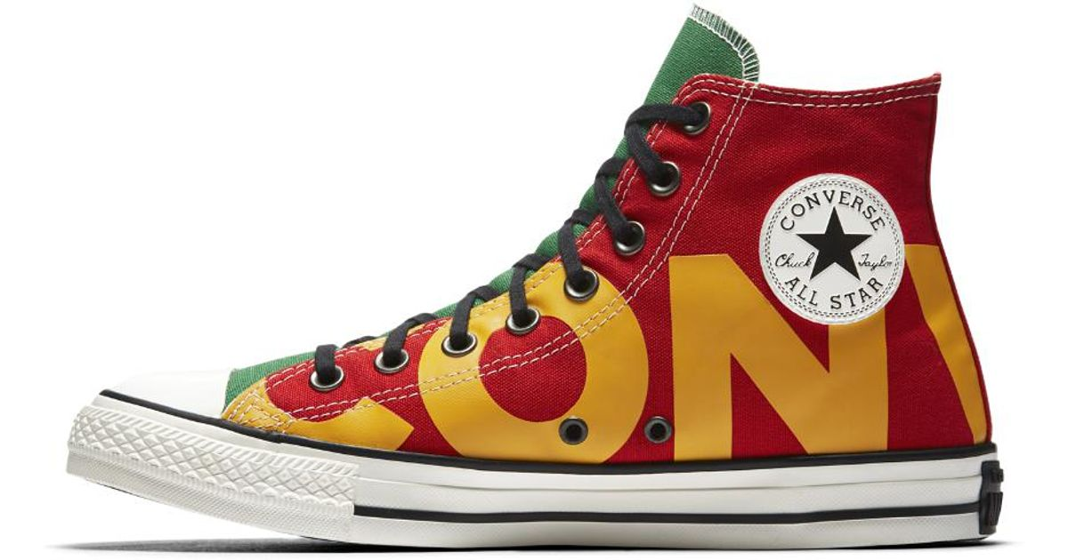 5c462eb0f0bc Lyst - Converse Chuck Taylor All Star Wordmark High Top Men s Shoe in Red  for Men